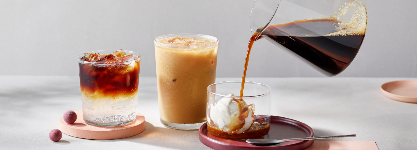 Three cold brew drinks