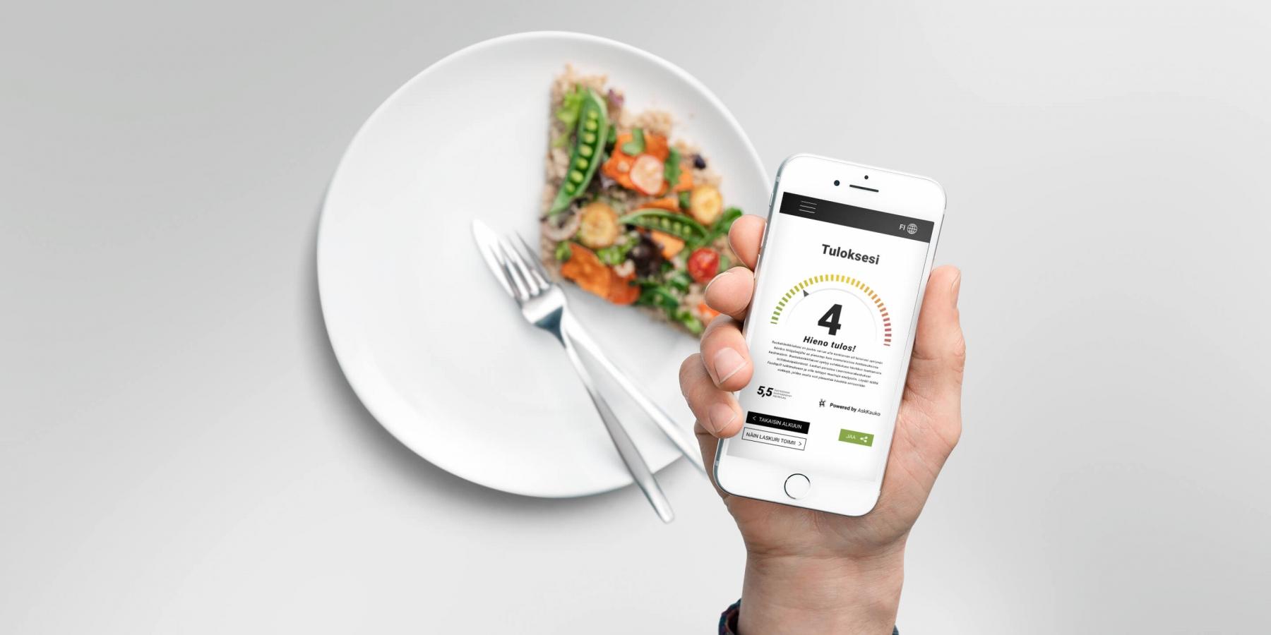 Lautasmalli auttaa hahmottamaan ruokahävikin määrän suomalaisissa kotitalouksissa